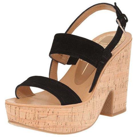 dolce vita tilly black suede platform sandals