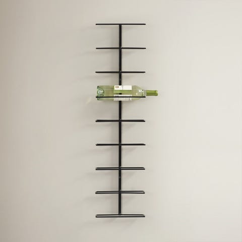 Marlene 9-Bottle Wall Mounted Wine Rack
