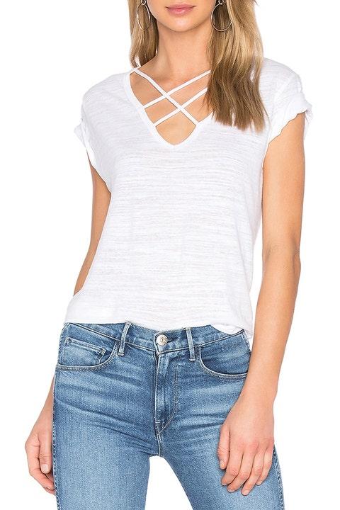 lna triple cross white t-shirt