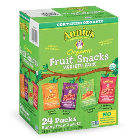 Annie's Organic Bunny Fruit Snacks Variety Pack