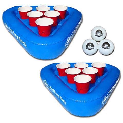 GoPong Pool Pong Rack Floating Beer Pong Set