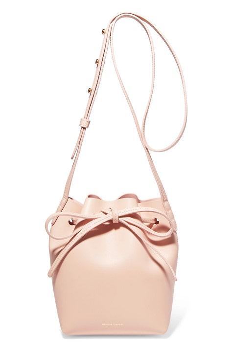 mansur gavriel mini mini pink bucket bag