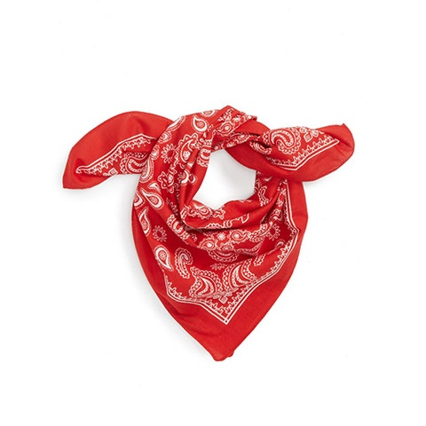 """<p><strong data-redactor-tag=""""strong"""" data-verified=""""redactor""""><em data-redactor-tag=""""em"""" data-verified=""""redactor"""">$10</em></strong> <a href=""""http://shop.nordstrom.com/s/topshop-western-bandana/4640972?origin=category-personalizedsort&amp;fashioncolor=RED%20MULTI"""" target=""""_blank"""" class=""""slide-buy--button"""" data-tracking-id=""""recirc-text-link"""">BUY NOW</a></p><p>Bandanas are the perfect accessory for summer. Spice up a basic jeans-and-tee look by tying one around your neck with the knot&nbsp;facing forward. Very nautical-chic when paired with a striped tee!&nbsp;</p>"""