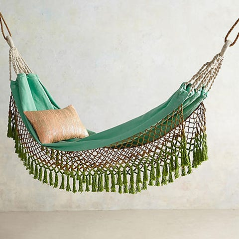 "<p><strong data-redactor-tag=""strong"" data-verified=""redactor""><em data-redactor-tag=""em"" data-verified=""redactor"">$118</em></strong> <a href=""https://www.anthropologie.com/shop/canyon-fringe-hammock?category=garden-outdoor&amp;color=102"" target=""_blank"" class=""slide-buy--button"" data-tracking-id=""recirc-text-link"">BUY NOW</a></p><p>You'll feel like you have&nbsp;your own tropical paradise at home when you wrap yourself up in this luxe hammock (one of Anthropologie's best-sellers!).&nbsp;</p>"