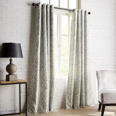 Pier 1 Imports Mota Gray Grommet Blackout Curtain