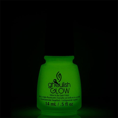 """<p><strong data-redactor-tag=""""strong"""" data-verified=""""redactor""""><em data-redactor-tag=""""em"""" data-verified=""""redactor"""">China Glaze Ghoulish Glow</em></strong><span class=""""redactor-invisible-space"""" data-verified=""""redactor"""" data-redactor-tag=""""span"""" data-redactor-class=""""redactor-invisible-space""""><strong data-redactor-tag=""""strong"""" data-verified=""""redactor""""><em data-redactor-tag=""""em"""" data-verified=""""redactor""""> Top Coat<br>$10</em></strong> <a href=""""China Glaze Ghoulish Glow"""" target=""""_blank"""" class=""""slide-buy--button"""" data-tracking-id=""""recirc-text-link"""">BUY NOW</a></span></p><p>Make your mani glow-in-the-dark with this clear top coat!</p><p><strong data-redactor-tag=""""strong"""" data-verified=""""redactor"""">More:&nbsp;</strong><a href=""""http://www.bestproducts.com/beauty/g1291/green-nail-polish/"""" target=""""_blank"""" data-tracking-id=""""recirc-text-link"""">Bold Lime &amp; Dark Green Nail Polish Picks</a><br></p>"""
