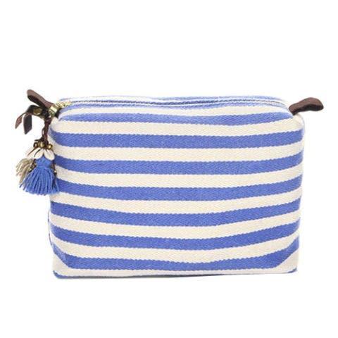 JADEtribe Nautical Stripe Cosmetic Bag
