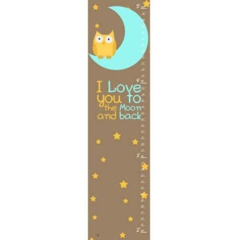 """""""I Love You to the Moon"""" Growth Chart"""