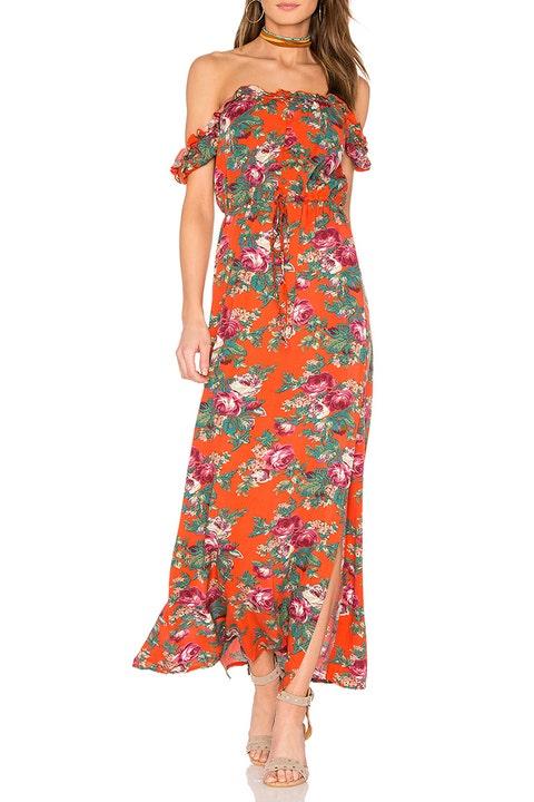 auguste stevie orange floral maxi dress