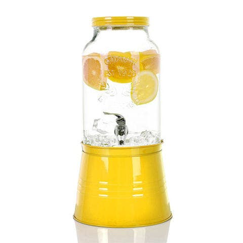 Simple Flow 1.5 Gallon Large Glass Single Mason Jar Beverage Drink Dispense
