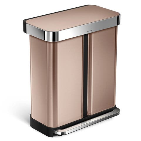 Simplehuman Rose Gold Rectangular Step Can