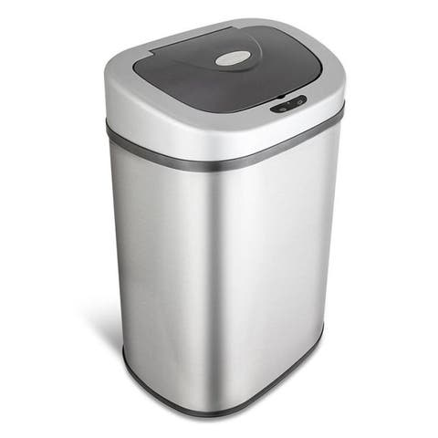 Nine Stars DZT-80-4 Infrared Touchless Stainless Steel Trash Can