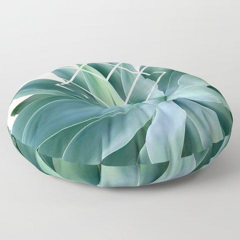 Society6 Agave Geometric Round Floor Pillow