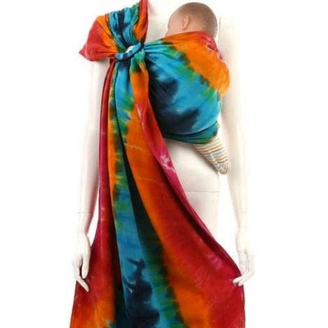 Handmade Tie Dye Ring Sling Baby Carrier