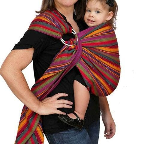 Maya Bright Stripes Baby Carrier Ring Sling