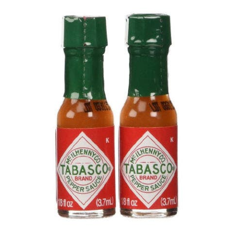 """<p><strong data-redactor-tag=""""strong"""" data-verified=""""redactor""""><em data-redactor-tag=""""em"""" data-verified=""""redactor"""">Mini Tabasco Bottles<br>10-pack, $9</em></strong> <a href=""""https://www.amazon.com/Tabasco-Pepper-Sauce-Miniature-Size/dp/B00JG8REY2/?tag=bp_links-20"""" target=""""_blank"""" class=""""slide-buy--button"""" data-tracking-id=""""recirc-text-link"""">BUY NOW</a></p><p>The heat from chilis can stimulate production of endorphins, which contributes to your libido, and&nbsp;they can also increase sweat production and heart rate, which can in turn improve blood flow for greater sensitivity ~down there~&nbsp;. Just don't go overboard — too much spice can give you a stomachache!&nbsp;</p>"""
