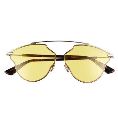 dior so real pop yellow sunglasses