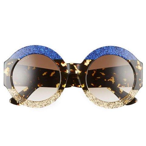 gucci blue tortoise round sunglasses