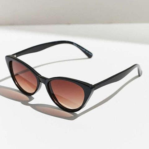 urban outfitters slim black cat eye sunglasses