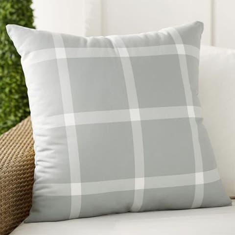 Pottery Barn Windowpane Plaid Indoor/Outdoor Pillow