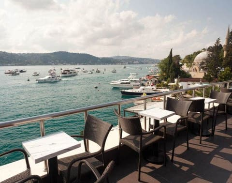 Restaurant, Sky, Sea, Table, Vacation, Mountain, Tourism, Lunch, Ocean, Cloud,