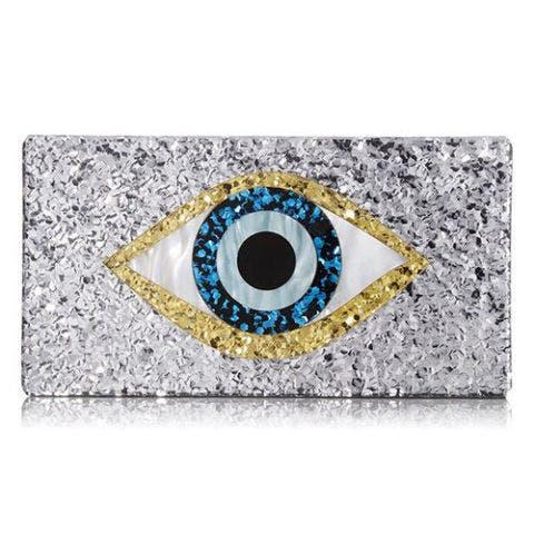 sam edelman glitter evil eye clutch