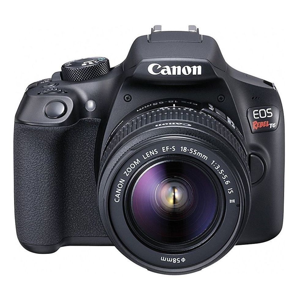 Canon EOS Rebel T6 DSLR Camera