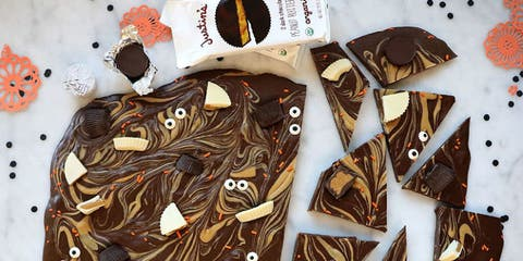 Justin's Spooky Peanut Butter Chocolate Bark