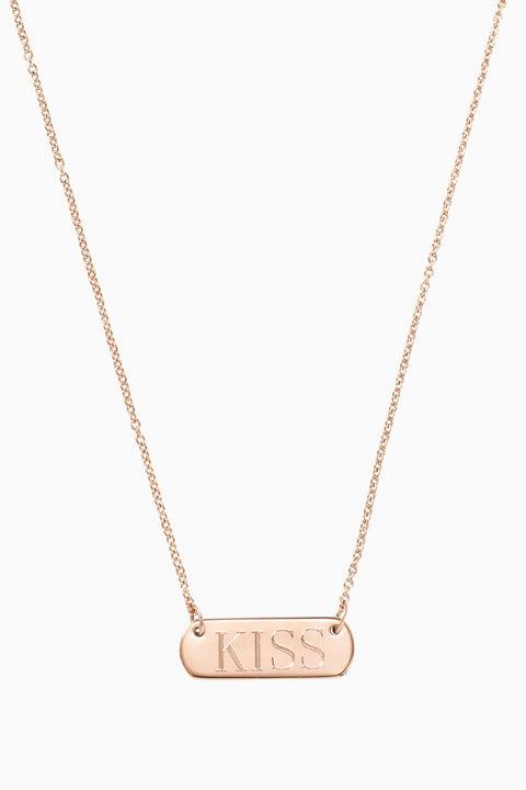 stella dot rose gold engravable bar necklace