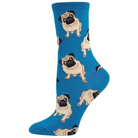 "<p><strong data-redactor-tag=""strong"" data-verified=""redactor""><em data-redactor-tag=""em"" data-verified=""redactor"">$9</em></strong> <a href=""https://www.amazon.com/Socksmith-Womens-Pugs-Peach-Sock/dp/B00JJRRP44/?tag=bp_links-20"" target=""_blank"" class=""slide-buy--button"" data-tracking-id=""recirc-text-link"">BUY NOW</a></p><p>The only time it's OK&nbsp;to step on a puggo is when they're on your socks!&nbsp;</p>"