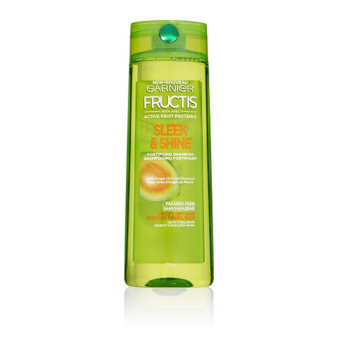 """<p><strong data-redactor-tag=""""strong""""><em data-redactor-tag=""""em"""">$4</em> <a href=""""https://www.target.com/p/garnier-174-fructis-174-with-active-fruit-protein-153-sleek-shine-fortifying-shampoo-with-argan-oil-from-morocco-12-5oz/-/A-51850449"""" target=""""_blank"""" class=""""slide-buy--button"""">BUY NOW</a></strong><br></p><p>This frizz-fighting shampoo was tested in 97% humidity conditions. Need we say more? OK, one more thing: The argan oil-infused formula helps smooth the hair cuticle, resulting in sleeker hair that's less prone to frizzing.</p>"""