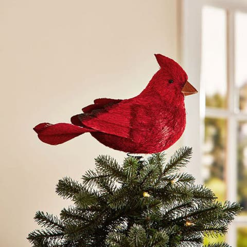 Pottery Barn Cardinal Bird Tree Topper