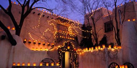 Santa Fe New Mexico Christmas lights