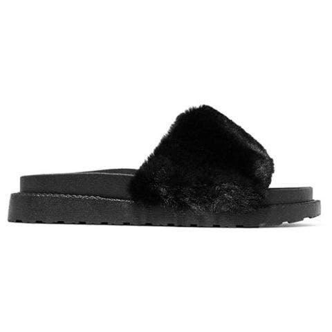 sam edelman blaire fur slides black