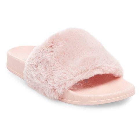 target phoebe pink faux fur slides