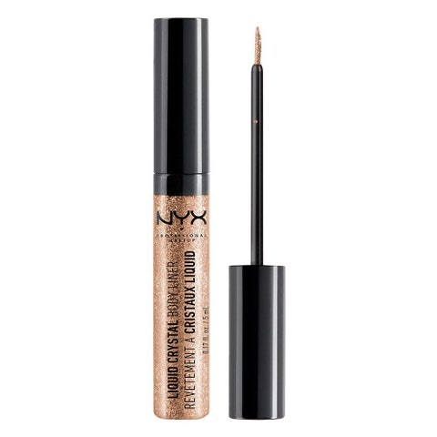 "<p>$4&nbsp;<a href=""https://www.amazon.com/NYX-Liquid-Crystal-Liner-Champagne/dp/B004B451JQ/ref=sr_1_38_s_it?s=beauty&amp;ie=UTF8&amp;qid=1506540751&amp;sr=1-38&amp;keywords=glitter&amp;tag=bp_links-20"" target=""_blank"" class=""slide-buy--button"" data-tracking-id=""recirc-text-link"">BUY NOW</a></p><p>It's a liquid eyeliner, sure, but this ""Body Liner"" is meant to be drawn <em data-redactor-tag=""em"">anywhere</em>. The possibilities are endless, but you can draw a peace sign or a heart on your bare shoulder to make a tank top and denim shorts instantly music-festival-ready. </p><p><strong data-redactor-tag=""strong"">More:</strong>&nbsp;<a href=""http://www.bestproducts.com/beauty/g421/glitter-nail-polish-colors/"" data-tracking-id=""recirc-text-link"">Glitter Nail Polish to Brighten Up Your Mood</a><br></p>"