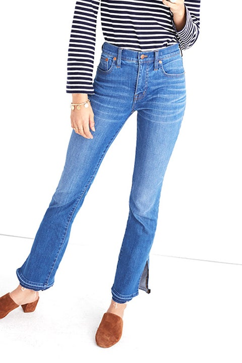 Madewell Cali Demi-Boot Jeans Split Hem