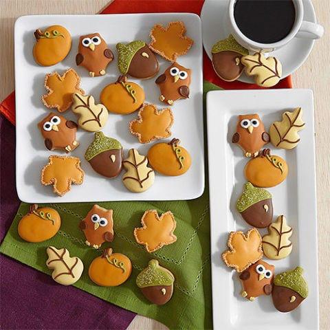 Shari's Berries Hand-Decorated Mini Autumn Cookies