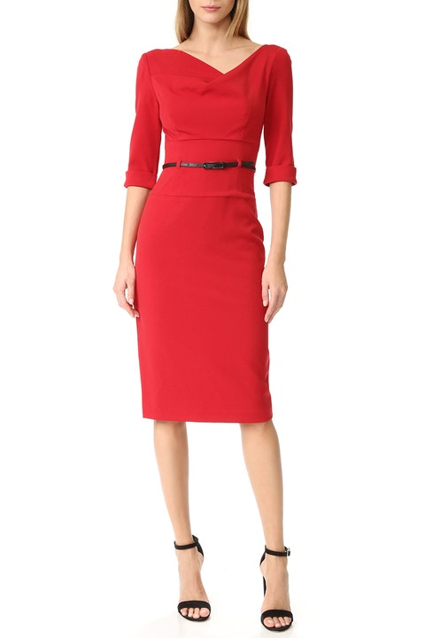 black halo jackie o red dress