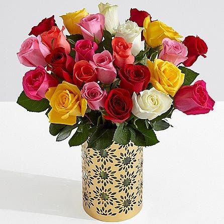 ProFlowers Two Dozen Long Stemmed Rainbow Roses