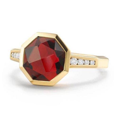 david yurman gold diamond octagon ring