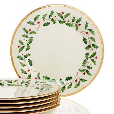 Lenox Holiday Set of 6 Dinner Plates