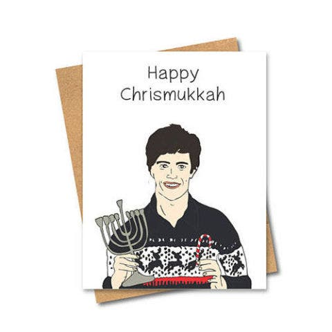 etsy happy chrismukkah seth cohen card