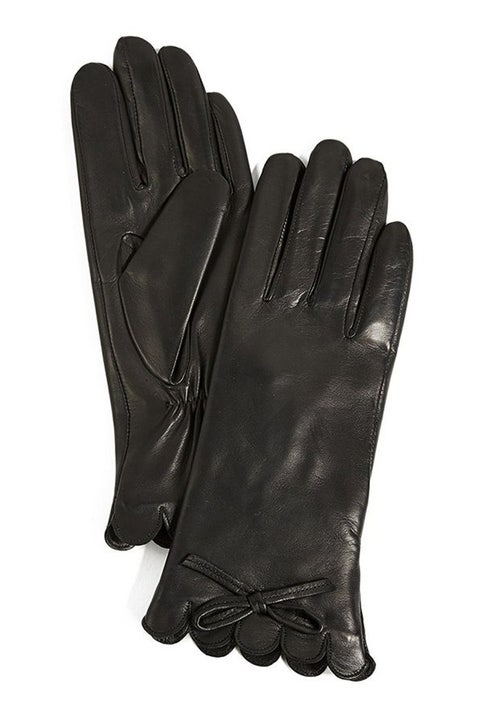 kate spade leather bow gloves
