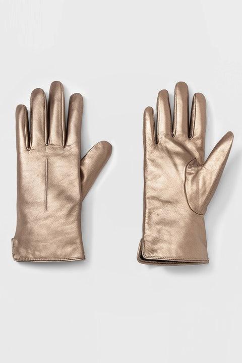 target gold leather gloves