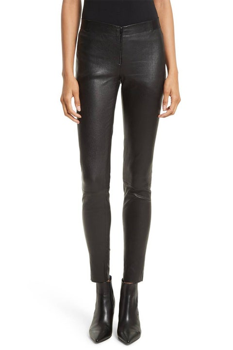 alice and olivia leather leggings
