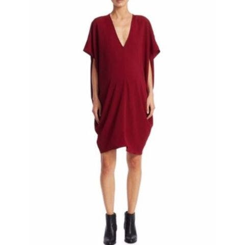 Red Maternity Cocktail Dress