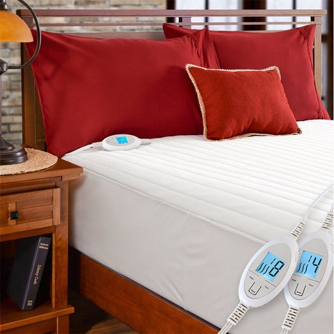 Simple Comfort Quilted Electric Heated Mattress Pad