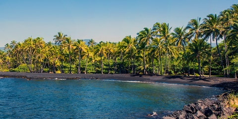 Punalu'u Black Sand Beach — Big Island, Hawaii