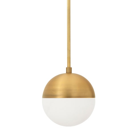 Powell Pendant with Hooded White Globe